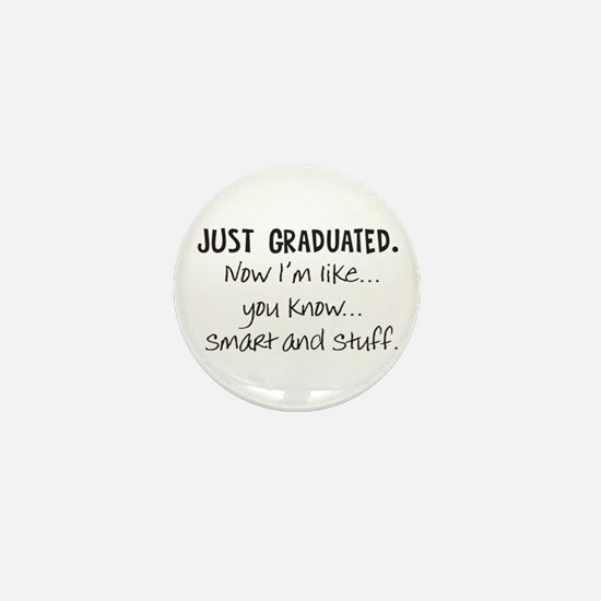 Just Graduated Blonde Humor Mini Button (100 pack)