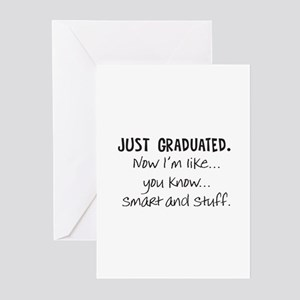 Just Graduated Blonde Humor Greeting Cards (Pk of