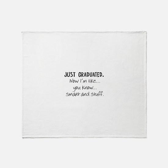Just Graduated Blonde Humor Throw Blanket