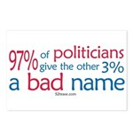 Anti-Government Politician  Postcards (Package of