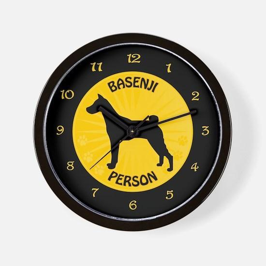 Basenji Person Wall Clock