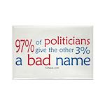 Anti-Government Politician Rectangle Magnet (10 p