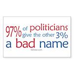 Anti-Government Politician Rectangle Sticker