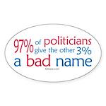Anti-Government Politician Oval Sticker