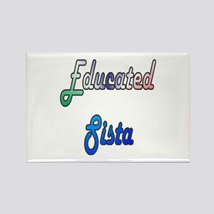 Educated Sista 2 Rectangle Magnet