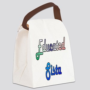 Educated Sista 2 Canvas Lunch Bag