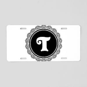 CUSTOM INITIAL Round Monogram Aluminum License Pla