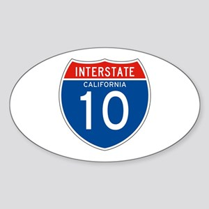Interstate 10 - CA Oval Sticker