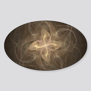 Flame Fractal Oval Sticker