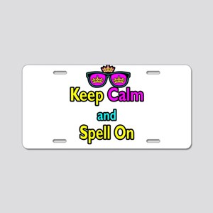 Crown Sunglasses Keep Calm And Spell On Aluminum L