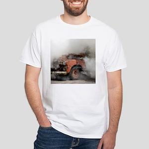 Burnout Pit White T-Shirt