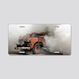 Burnout Pit Aluminum License Plate