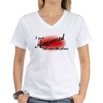 I Just Awesomed All Over The Place Women's V-Neck