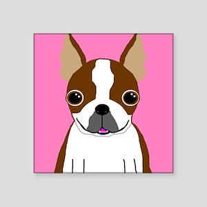 Boston Terrier (Brown) Rectangle Sticker