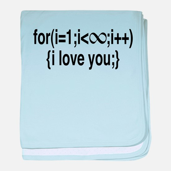 I Love You....For Ever! baby blanket