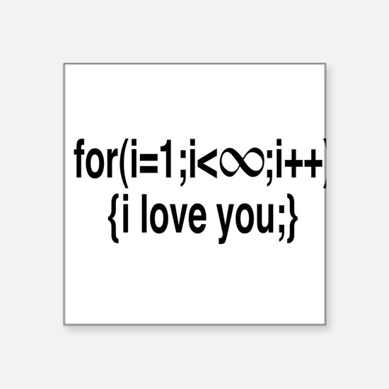 I Love You....For Ever! Sticker