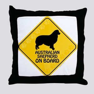 Australian Shepherd On Board Throw Pillow