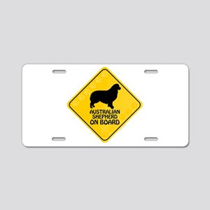 Australian Shepherd On Board Aluminum License Plat