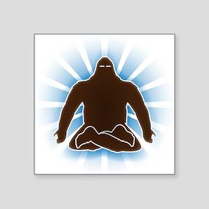 It's bigfoot at peace, doing yoga, meditating Stic