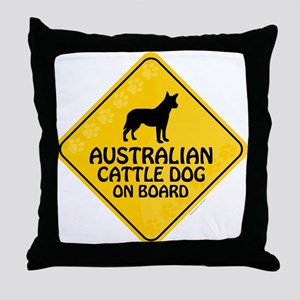 Cattle Dog On Board Throw Pillow