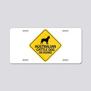 Cattle Dog On Board Aluminum License Plate
