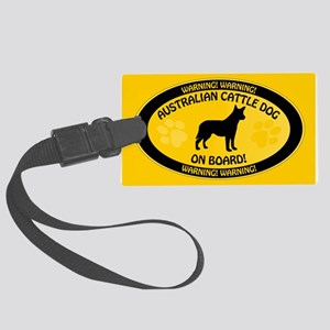 Cattle Dog On Board Large Luggage Tag