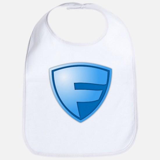 Super F Super Hero Design Bib
