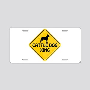 Cattle Dog Xing Aluminum License Plate