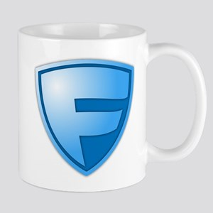 Super F Super Hero Design Mug