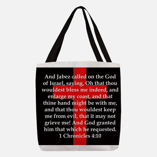 1 Chronicles 4:10 Polyester Tote Bag