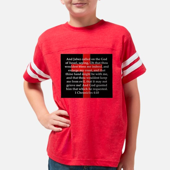 1 Chronicles 4:10 Youth Football Shirt