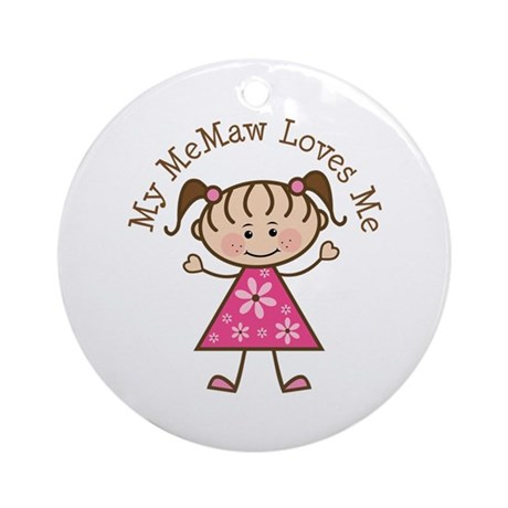 Memaw Loves Me Ornament (Round)