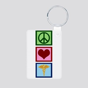 Peace Love Medicine Aluminum Photo Keychain