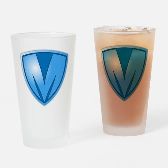 Super M Super Hero Design Drinking Glass