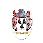 Booth Oval Car Magnet