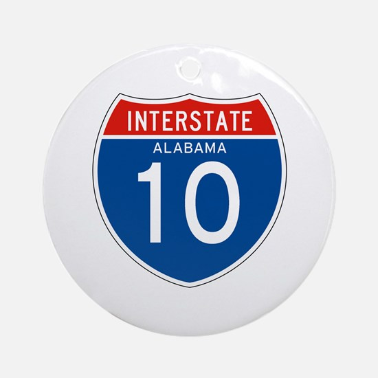 Interstate 10 - AL Ornament (Round)