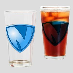 Super N Super Hero Design Drinking Glass