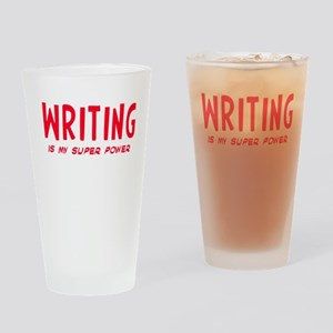 Super Power: Writing Drinking Glass