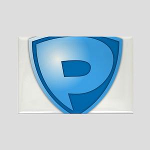 Super P Super Hero Design Rectangle Magnet