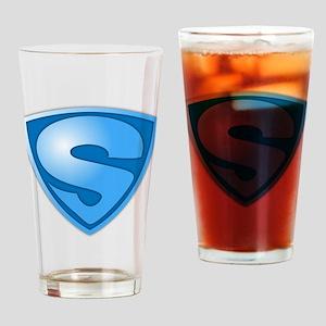 Super S Super Hero Design Drinking Glass