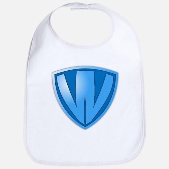 Super W Super Hero Design Bib