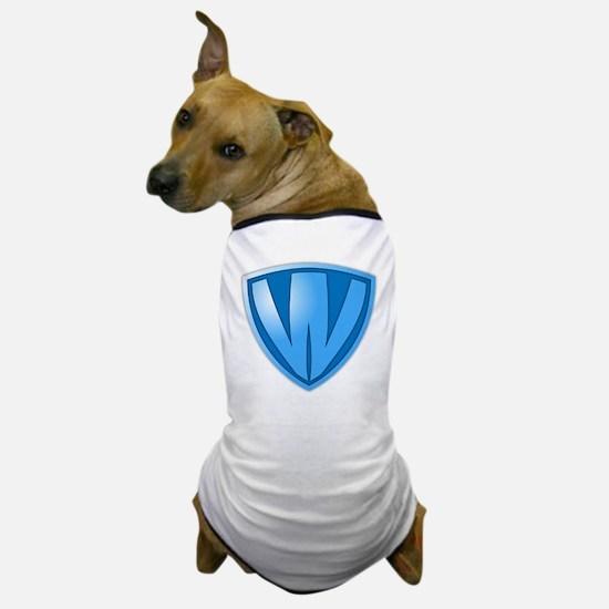 Super W Super Hero Design Dog T-Shirt