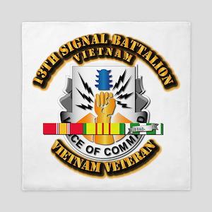 Army - 13 Signal BN w VN Svc Queen Duvet