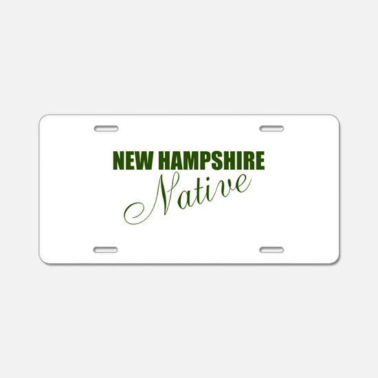 NH Native Aluminum License Plate