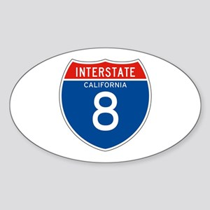 Interstate 8 - CA Oval Sticker