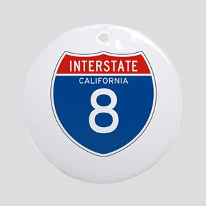 Interstate 8 - CA Ornament (Round)