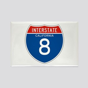 Interstate 8 - CA Rectangle Magnet
