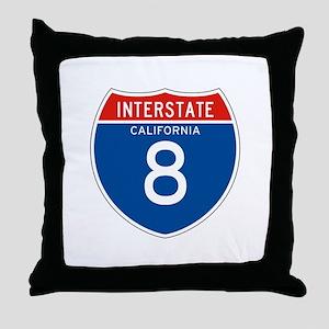 Interstate 8 - CA Throw Pillow