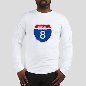 Interstate 8 - CA Long Sleeve T-Shirt