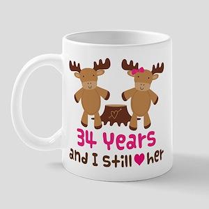 34th Anniversary Moose Mug